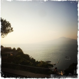 View on the Vesuvius from Vico Equense